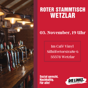 Wetzlarer Roter Stammtisch @ Café Vinyl